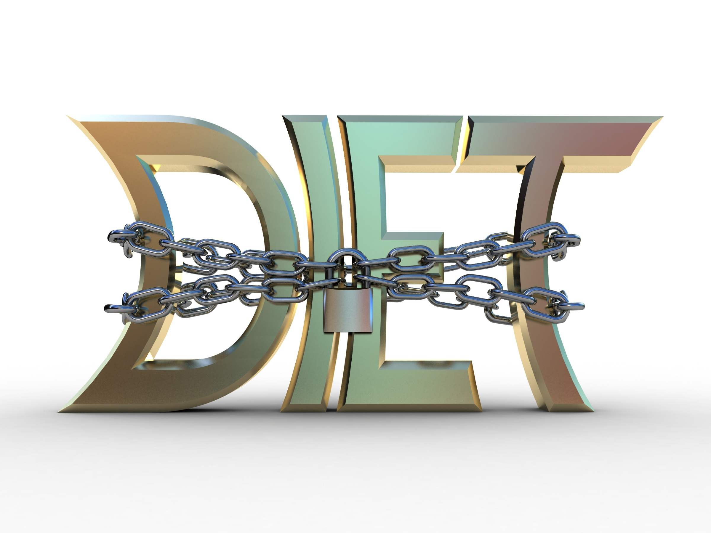Volume letters a diet and a chain with the lock